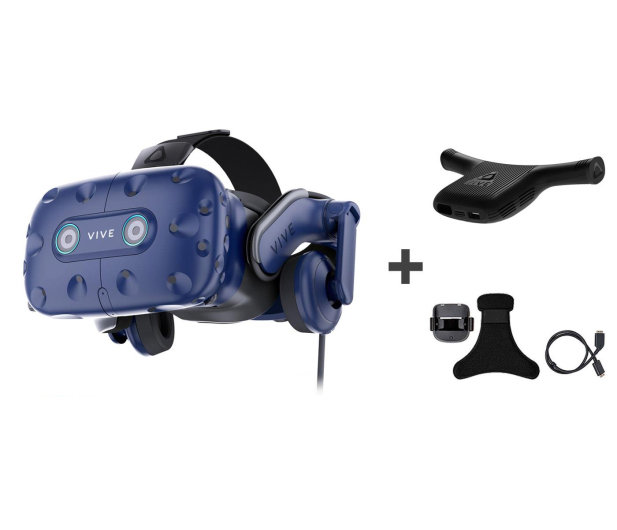 HTC HTC Vive Pro Eye + Wireless Adapter + Klips - 507322 - zdjęcie
