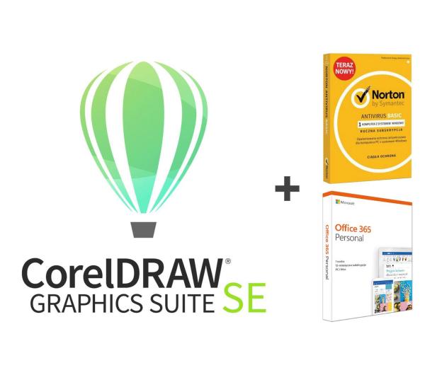 Corel Graphic Suite SE 2019 + Office 365 + Norton - 507528 - zdjęcie