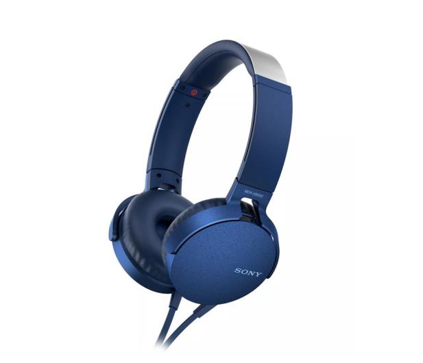 Sony MDR-XB550AP Niebieskie - 507495 - zdjęcie
