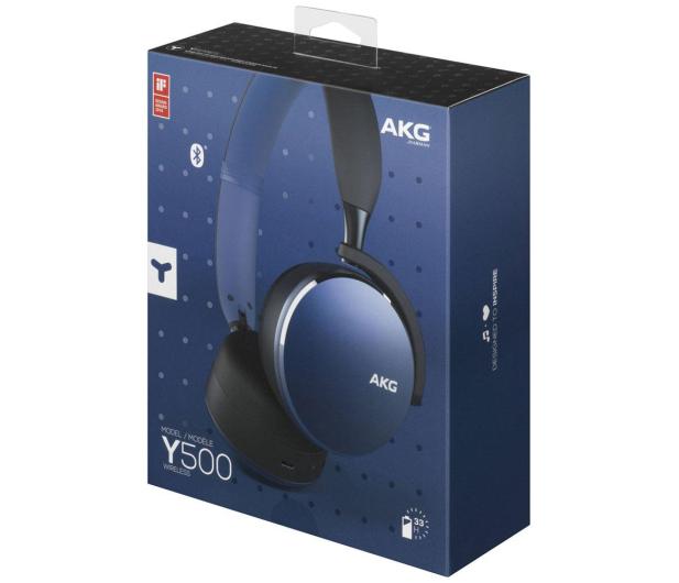 AKG Y500 Wireless Niebieskie - 508027 - zdjęcie 4