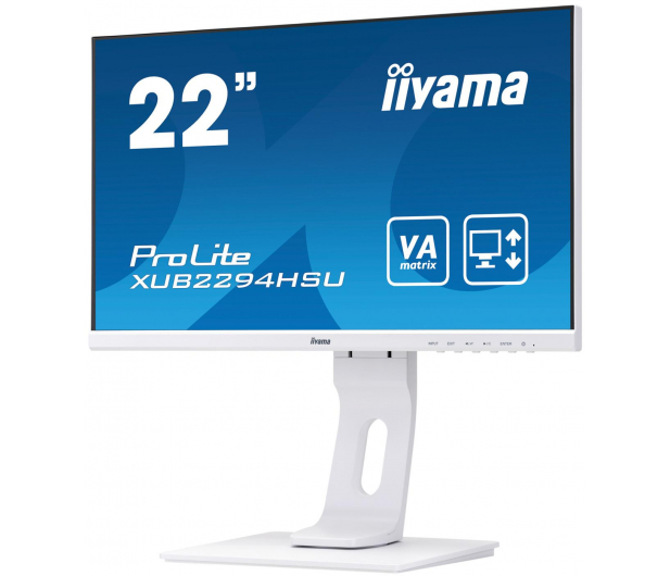iiyama XUB2294HSU biały - 504178 - zdjęcie 3