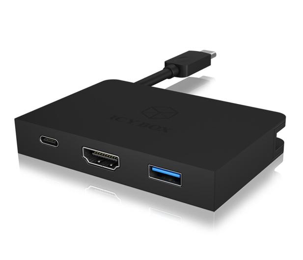 ICY BOX Stacja dokująca (USB-C, HDMI, aluminium) - 505420 - zdjęcie