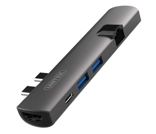 Unitek USB-C - USB, HDMI, RJ-45, Thunderbolt3 - 509646 - zdjęcie