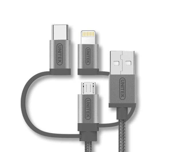 Unitek Kabel USB 3.0 - Lightning, USB-C, micro USB - 509747 - zdjęcie 2
