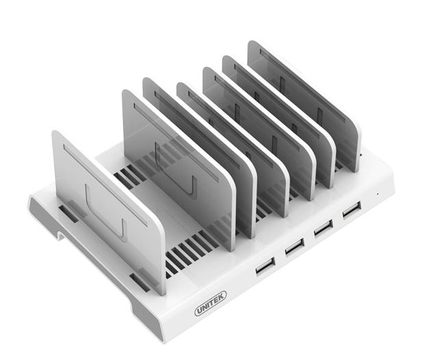 Unitek Stacja ładująca 4x USB 2.4A 36W - 509744 - zdjęcie