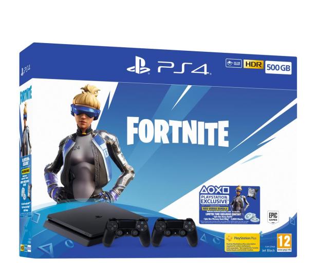 Sony Playstation 4 500GB + Fortnite DLC + DS 4 V2 - 510771 - zdjęcie