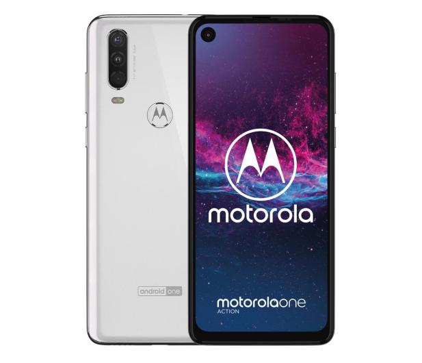 Motorola One Action 4/128GB Dual SIM biały + etui - 511153 - zdjęcie