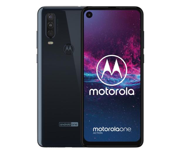 Motorola One Action 4/128GB Dual SIM granatowy + etui - 511154 - zdjęcie