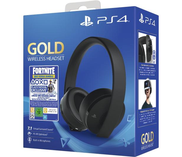 Sony PlayStation 4 Wireless Headset Gold + Fortnite DLC - 510222 - zdjęcie