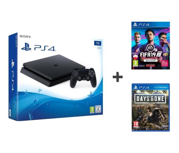 Sony Playstation 4 Slim 1TB + FIFA 19 + Days Gone - 511076 - zdjęcie