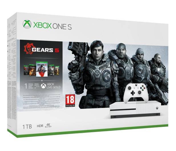 Microsoft Xbox One S 1TB + GoW 5 - 512345 - zdjęcie
