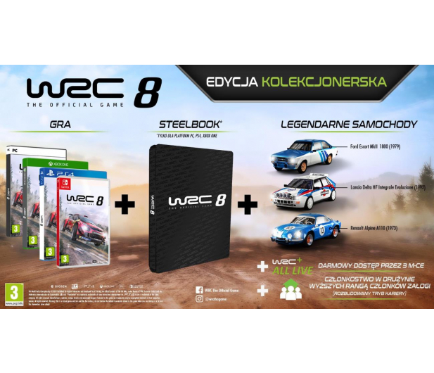 Xbox WRC 8 COLLECTORS EDITION - 512364 - zdjęcie 3