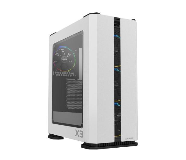 Zalman X3 White TG RGB - 512061 - zdjęcie