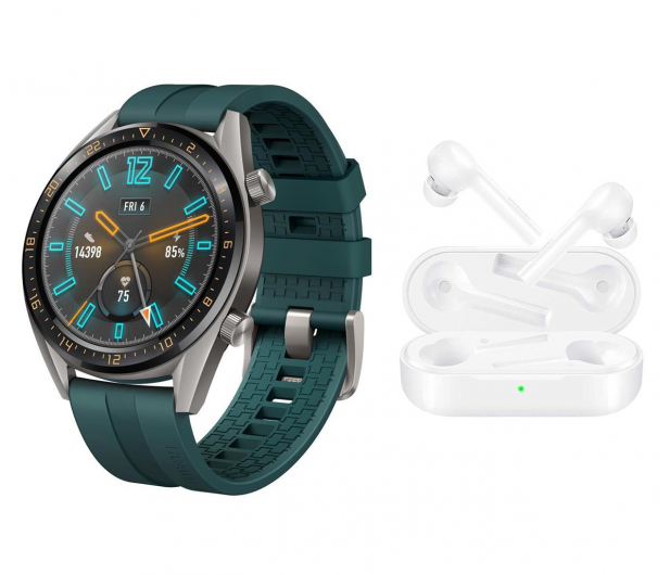 Huawei Watch GT Active zielony + FreeBuds Lite - 512942 - zdjęcie