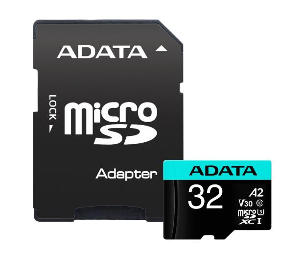 ADATA 32GB microSDHC Premier Pro 100MB/s U3 V30S A2 - 512447 - zdjęcie 2