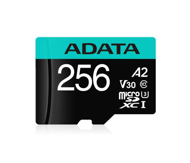 ADATA 256GB microSDXC Premier Pro 100MB/s U3 V30S A2 - 512450 - zdjęcie