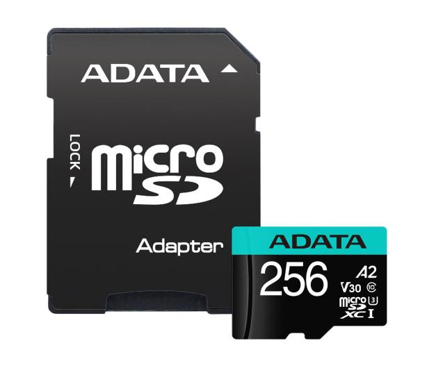 ADATA 256GB microSDXC Premier Pro 100MB/s U3 V30S A2 - 512450 - zdjęcie 2