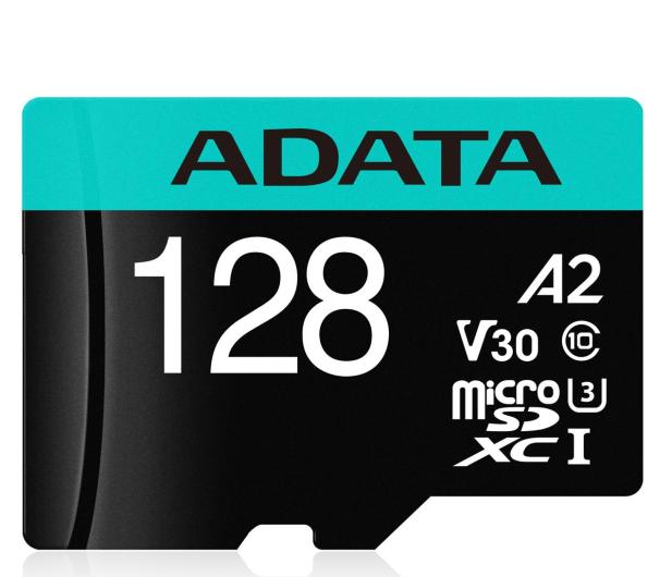 ADATA 128GB microSDXC Premier Pro 100MB/s U3 V30S A2 - 512449 - zdjęcie