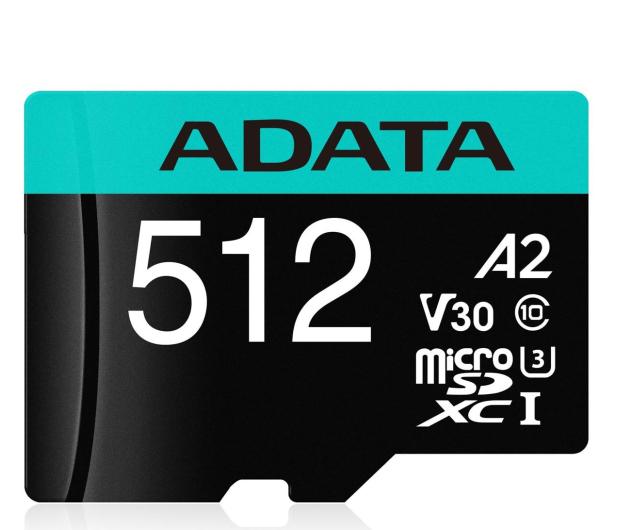 ADATA 512GB Premier Pro U3 V30S A2 + adapter  - 512451 - zdjęcie