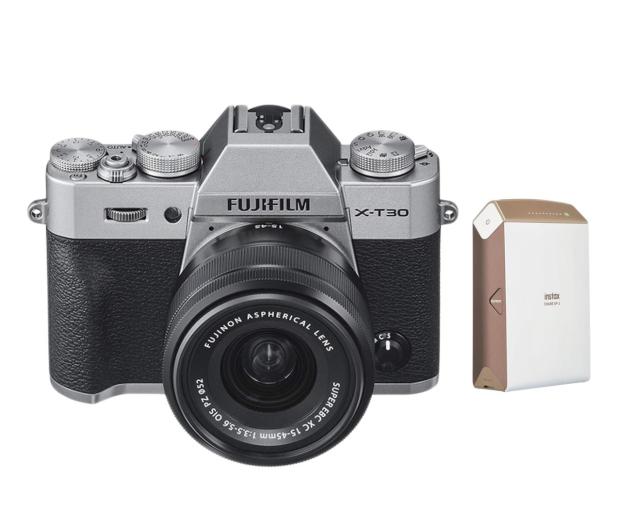 Fujifilm X-T30 + 15-45mm + Instax Share SP-2  złota - 513386 - zdjęcie
