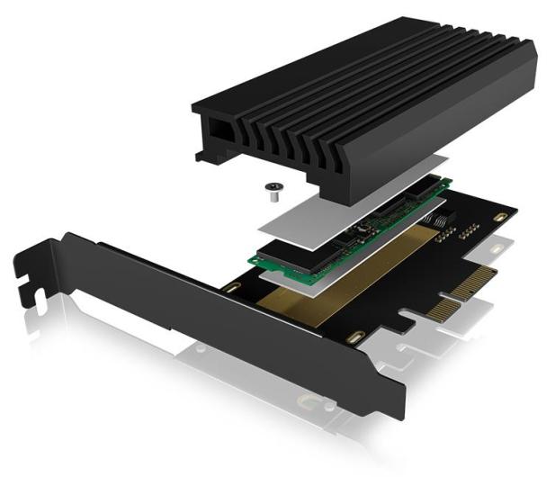 ICY BOX Karta PCIe M.2 M-Key dla 1 dysku SSD M.2 NVMe - 507184 - zdjęcie 3