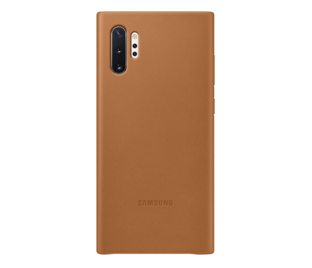 Samsung Leather Cover do Galaxy Note 10+ Camel - 508392 - zdjęcie