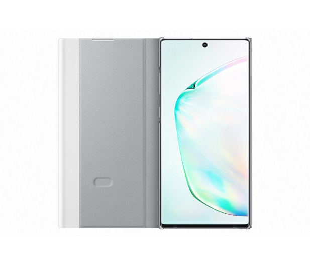 Samsung Clear View Cover do Galaxy Note 10+ srebrny - 508403 - zdjęcie 2