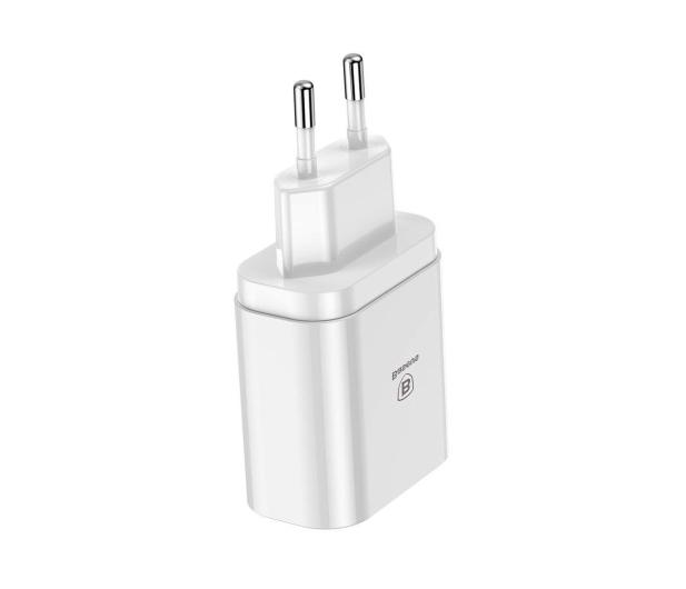 Baseus Ładowarka sieciowa 3x USB, 2.4A (biały) - 509254 - zdjęcie 2