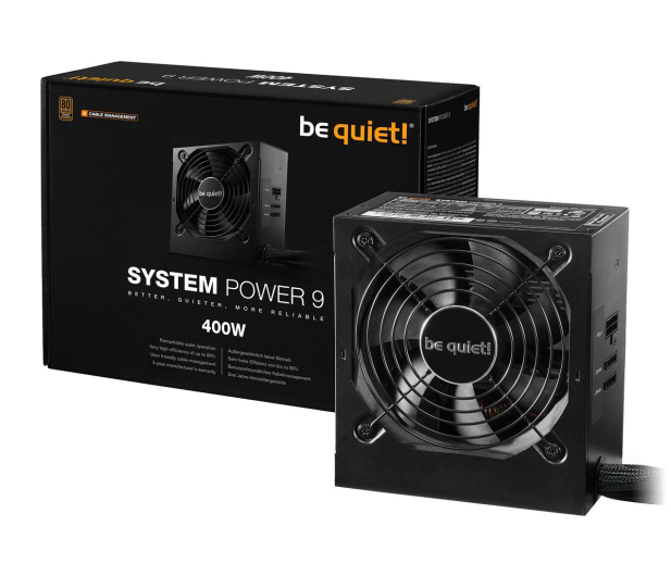 be quiet! System Power 9 400W CM 80 Plus Bronze - 509248 - zdjęcie