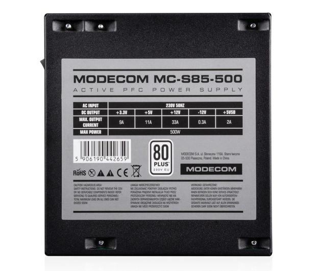 MODECOM MCS85 500W 80 Plus - 508943 - zdjęcie 2