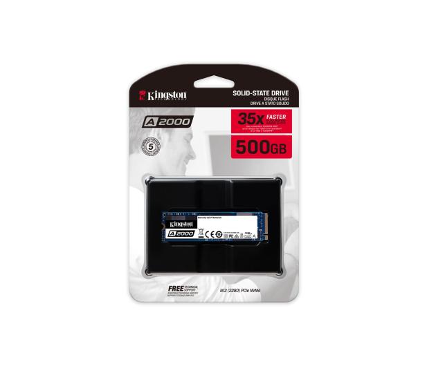 Kingston 500GB M.2 PCIe NVMe A2000 - 510264 - zdjęcie 3