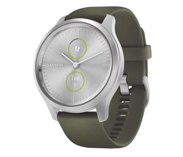 Garmin vivomove 3 Style srebrno - zielony Gorilla Glass - 515087 - zdjęcie