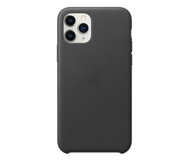 Apple Leather Case do iPhone 11 Pro Black - 514616 - zdjęcie
