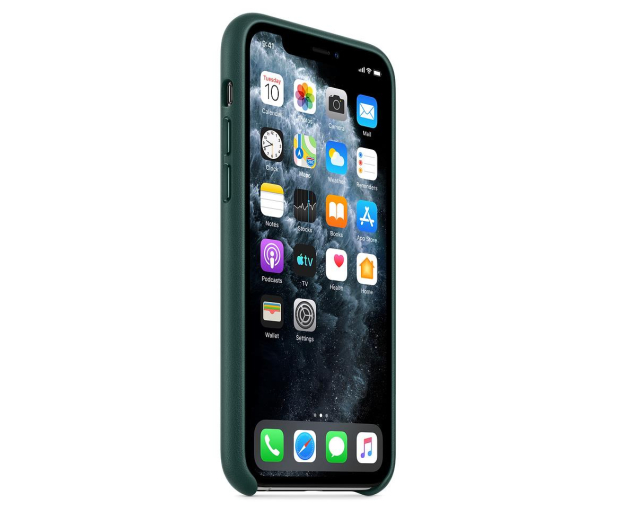 Apple Leather Case do iPhone 11 Pro Forest Green - 514615 - zdjęcie 2