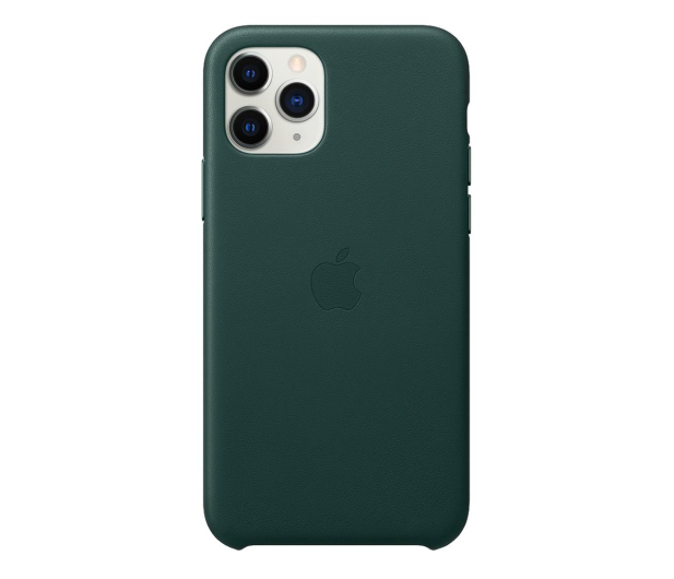Apple Leather Case do iPhone 11 Pro Forest Green - 514615 - zdjęcie