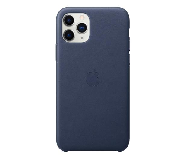 Apple Leather Case do iPhone 11 Pro Midnight Blue - 514617 - zdjęcie