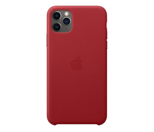 Apple Leather Case do iPhone 11 Pro Max (PRODUCT)RED - 514619 - zdjęcie