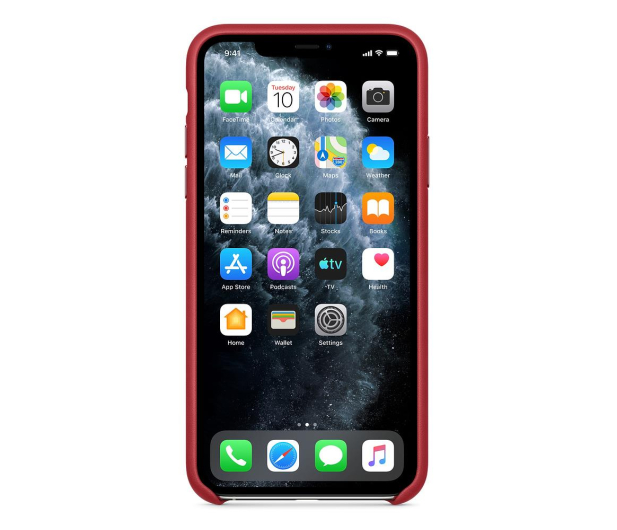 Apple Leather Case do iPhone 11 Pro Max (PRODUCT)RED - 514619 - zdjęcie 3