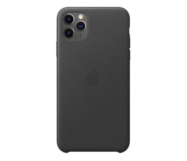 Apple Leather Case do iPhone 11 Pro Max Black - 514621 - zdjęcie