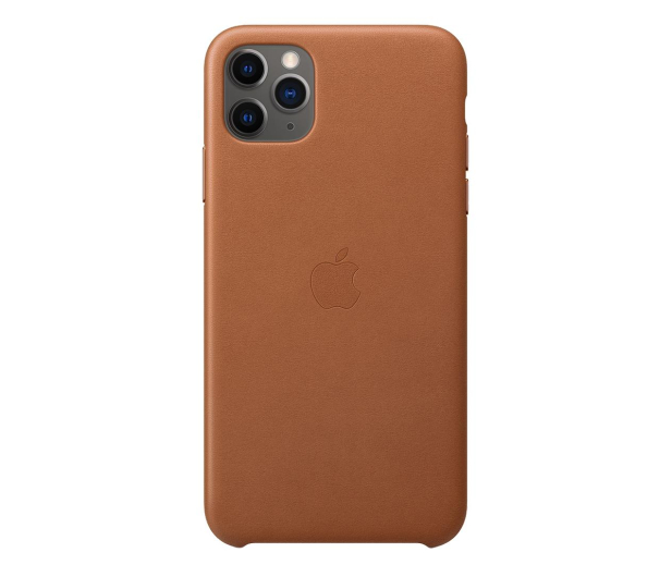 Apple Leather Case do iPhone 11 Pro Max Saddle Brown - 514623 - zdjęcie