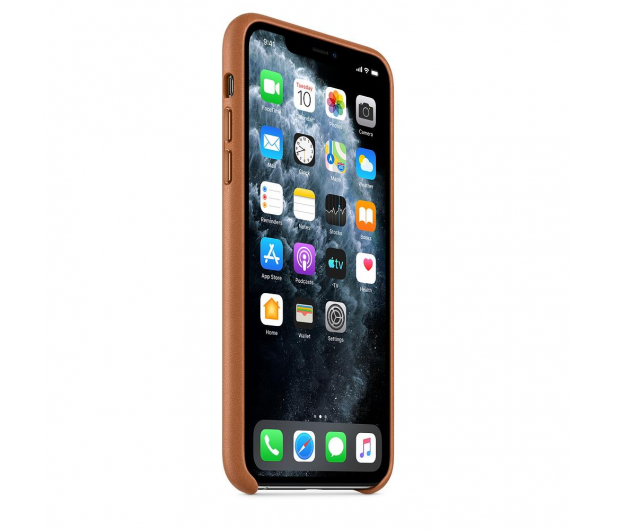 Apple Leather Case do iPhone 11 Pro Max Saddle Brown - 514623 - zdjęcie 2