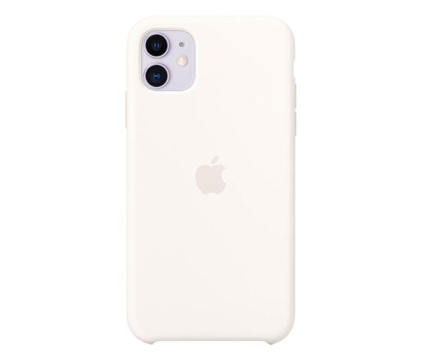 Apple Silicone Case do iPhone 11 White - 515888 - zdjęcie