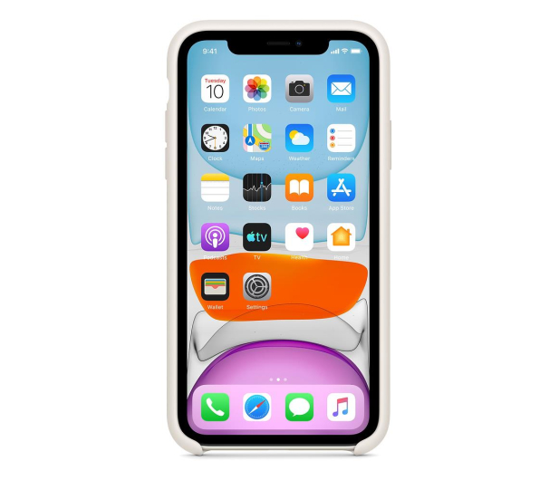 Apple Silicone Case do iPhone 11 White - 515888 - zdjęcie 3