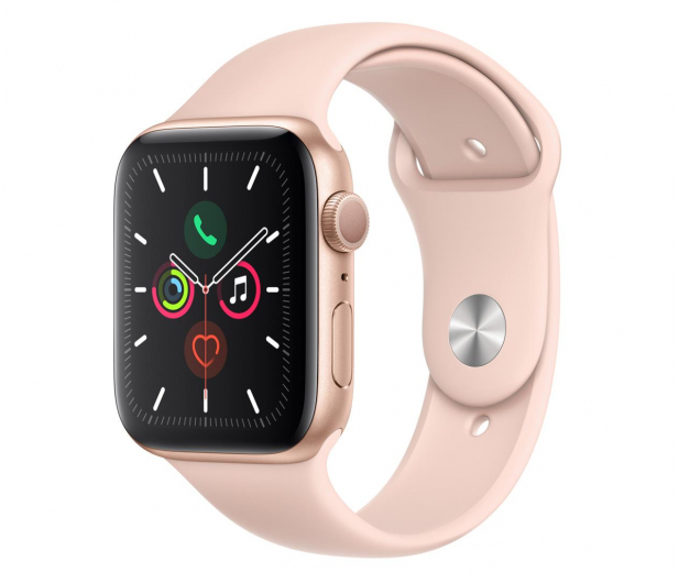 Apple Watch 5 44/Gold Aluminium/Pink Sport GPS - 515908 - zdjęcie