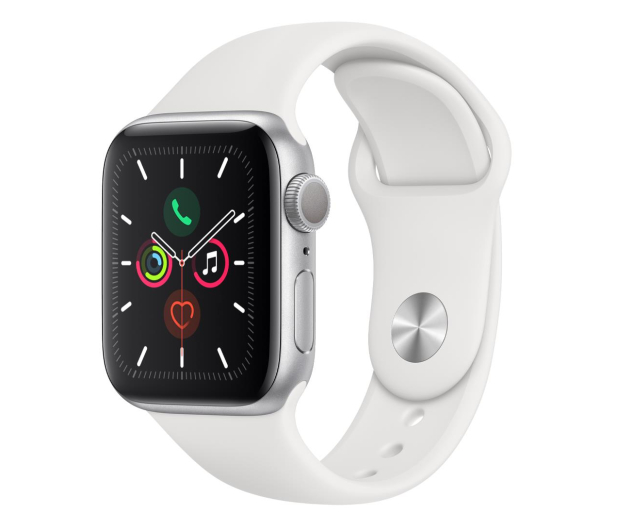 Apple Watch 5 40/Silver Aluminium/White Sport GPS - 515901 - zdjęcie