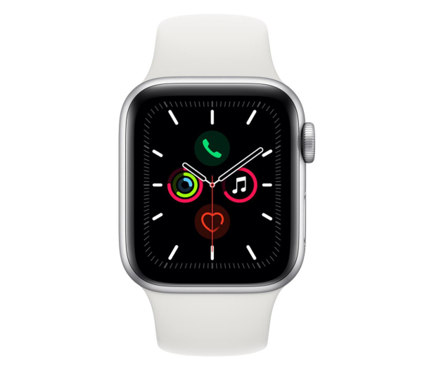 Apple Watch 5 40/Silver Aluminium/White Sport GPS - 515901 - zdjęcie 2