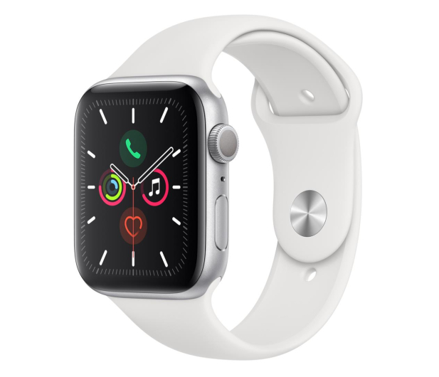 Apple Watch 5 44/Silver Aluminium/White Sport GPS - 515907 - zdjęcie