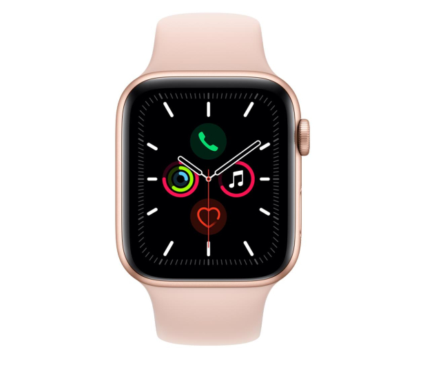 Apple Watch 5 44/Gold Aluminium/Pink Sport GPS - 515908 - zdjęcie 2