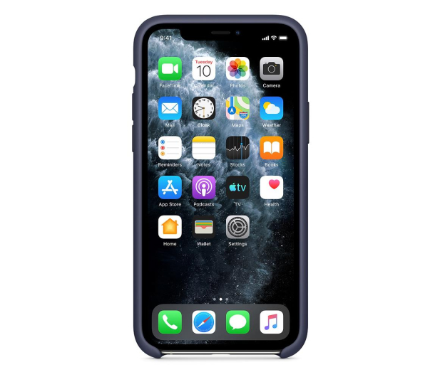 Apple Silicone Case do iPhone 11 Pro Midnight Blue - 514608 - zdjęcie 3
