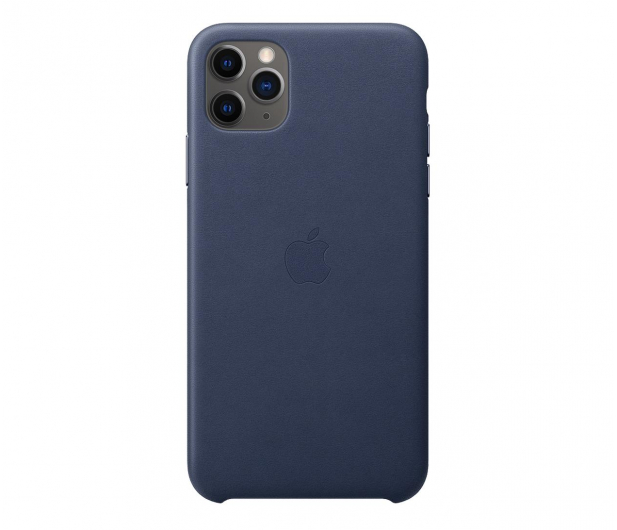 Apple Leather Case do iPhone 11 Pro Max Midnight Blue - 514622 - zdjęcie
